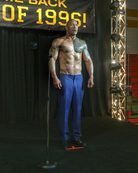 Dwayne Johnson's muscle